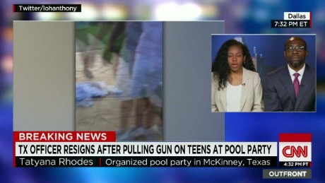 Pool party organizer: He didn't have to use aggression