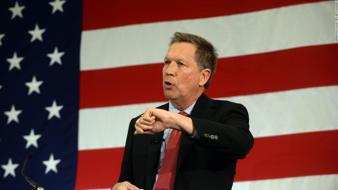 "Ohio Gov. John Kasich joined the Republican field July 21 as he formally announced his White House bid.<br /><br />""I am here to ask you for your prayers, for your support ... because I have decided to run for president of the United States,"" Kasich told his kickoff rally at the Ohio State University."