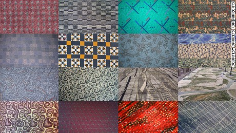 A montage of carpets featured on the Carpets for Airports website.