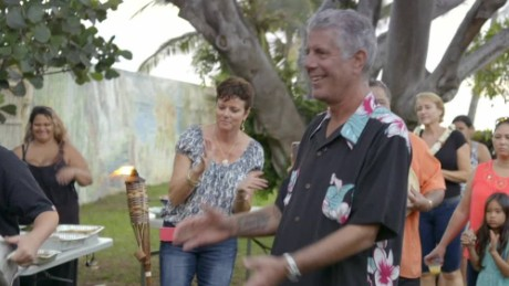 Bourdain pigs out in Hawaii