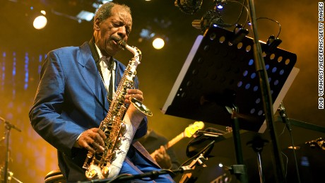 ROTTERDAM, NETHERLANDS - JULY 11: Ornette Coleman performs on stage during the North Sea Jazz Festival at Ahoy on July 11, 2010 in Rotterdam, Netherlands. (Photo by Rob Verhorst/Redferns) *** Local Caption *** Ornette Coleman