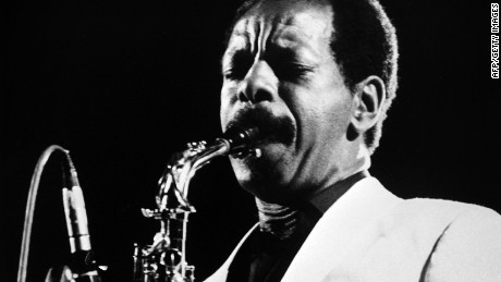 """(FILES) A photo taken on June 30, 1983 shows US jazz saxophonist and composer Ornette Coleman performing in Rome. Ornette Coleman, whose 1959 album """"The Shape of Jazz to Come"""" is considered one of the most groundbreaking in the genre's history, died on June 11, 2015 in New York, at the age of 85. AFP PHOTO / ANSA -/AFP/Getty Images"""