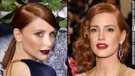 Bryce Dallas Howard, left, Jessica Chastain