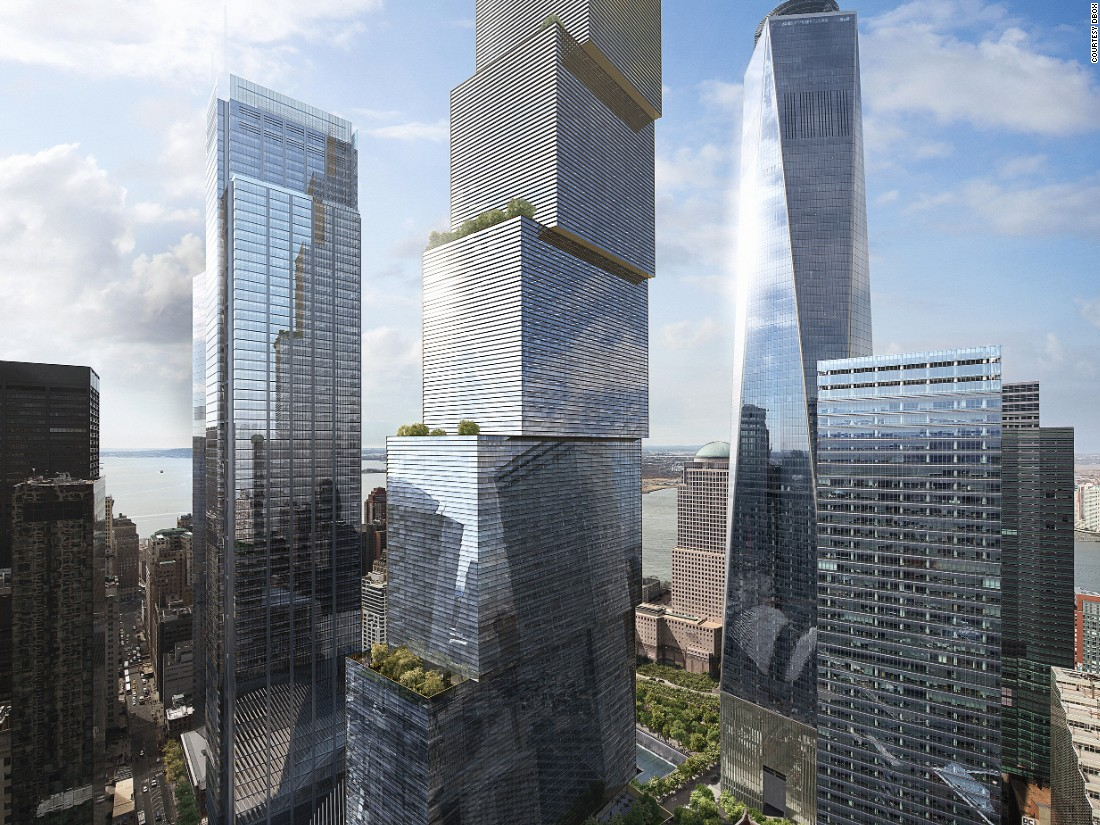 New World Trade Center Tower Unveiled Cnn Com