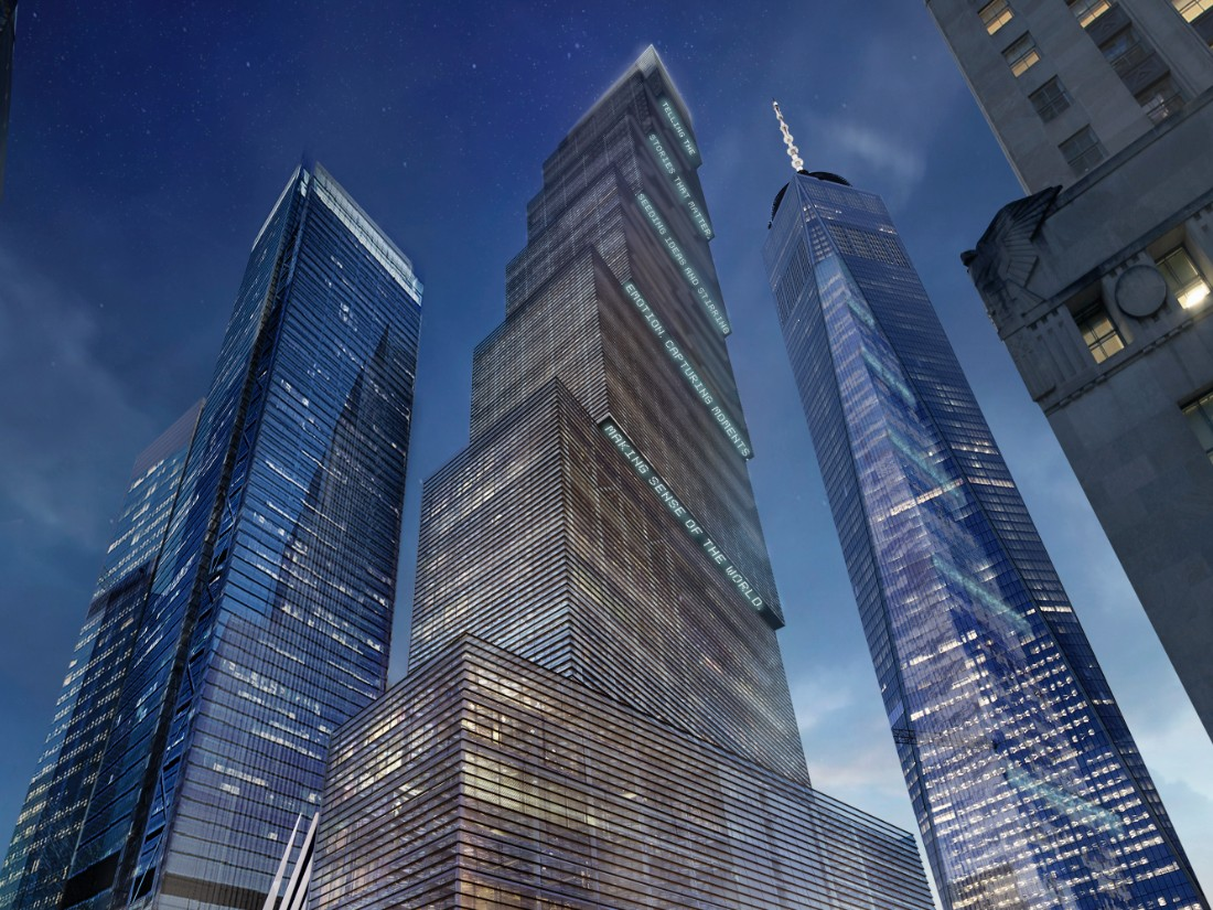 New world trade center tower unveiled for 2 world trade center