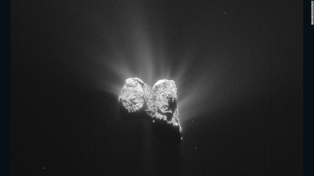 Rosetta's navigation camera took this image of the comet on June 1, 2015.