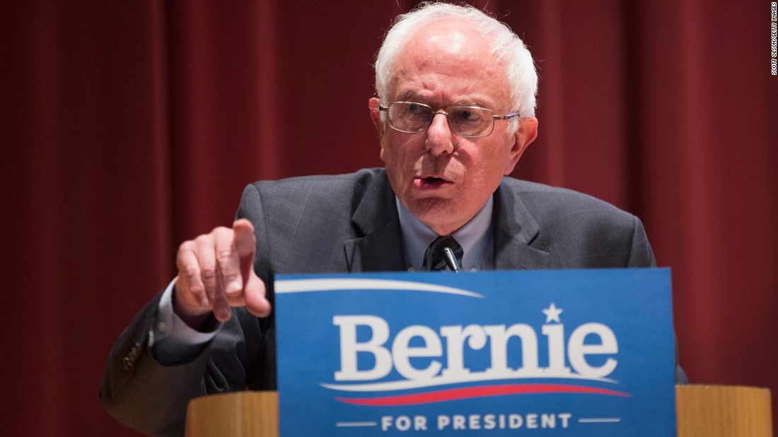 U.S. Bernie Sanders, independent from Vermont running for Democratic nomination.