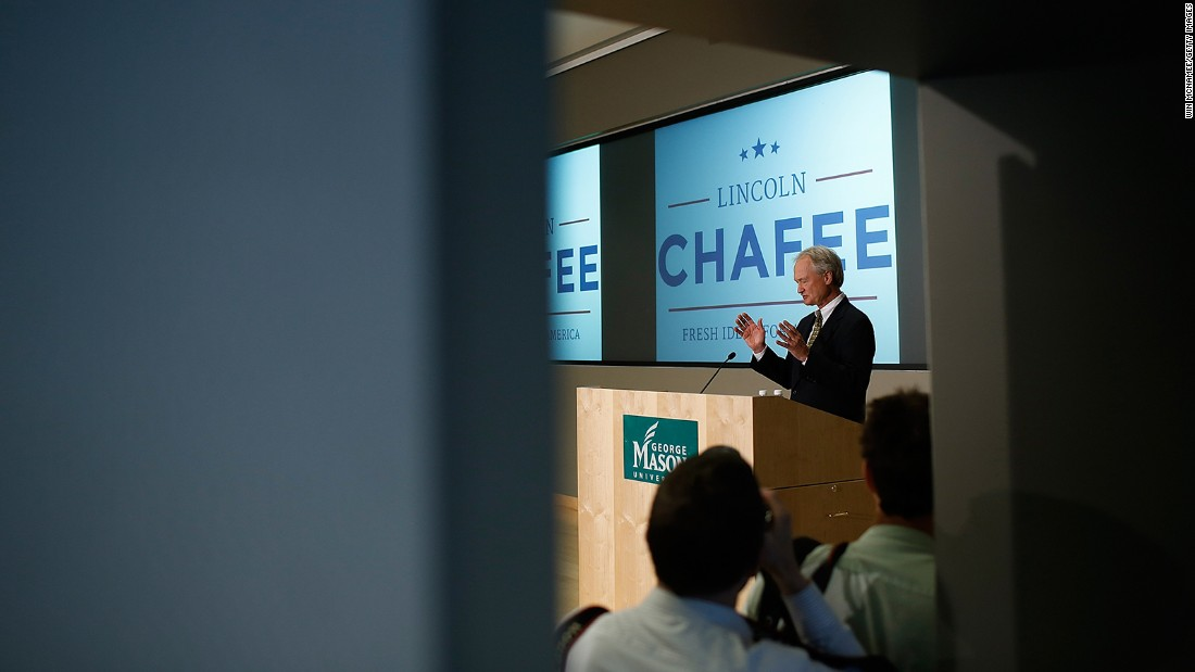 Former U.S. Sen. Lincoln Chafee, D-Rhode Island, who has dropped out of the presidential race.