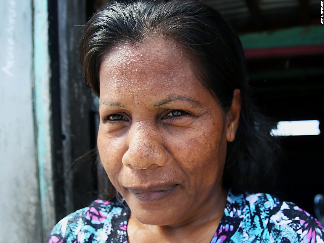 Wina Anmontha says her daughter, Roselinta, moved from Majuro to the United States in part because of fears that floods are becoming more common here.