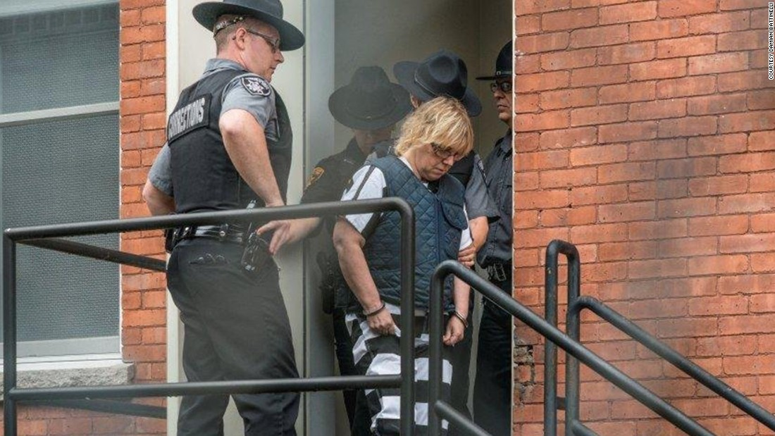 Prison tailor Joyce Mitchell, charged with aiding the escape, appeared in court on Monday, June 15.