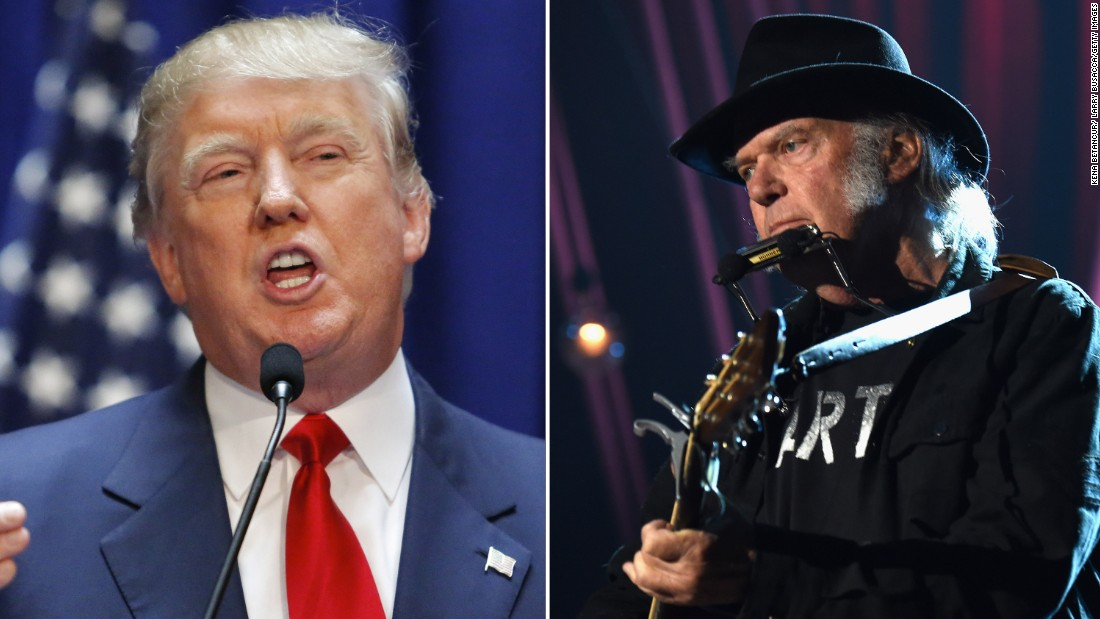 """Neil Young did not """"authorize"""" Trump to use his song ..."""