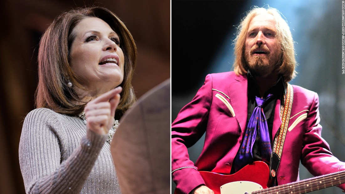 "Tom Petty objected to Michele Bachmann's campaign playing his 1977 hit ""American Girl"" after it was played during the kickoff event for the Minnesota representative's presidential bid."