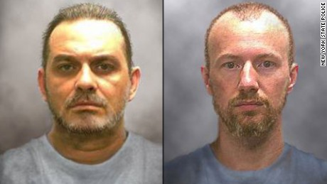 The New York State Police issued these #39;progression#39; photos of Richard Matt and David Sweat on June 17, 2015. Matt, 49, and Sweat, 35, escaped from the Clinton Correctional Facility in Dannemora, New York sometime after they were last seen at bed check Friday night, June 5, 2015. The pair left decoys to trick guards into think they were asleep as they made their escape. Both were serving time on separate murder convictions.
