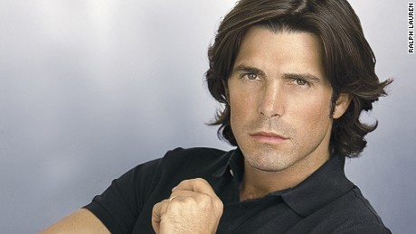 Nacho figueras in a promotional picture for Ralph Lauren