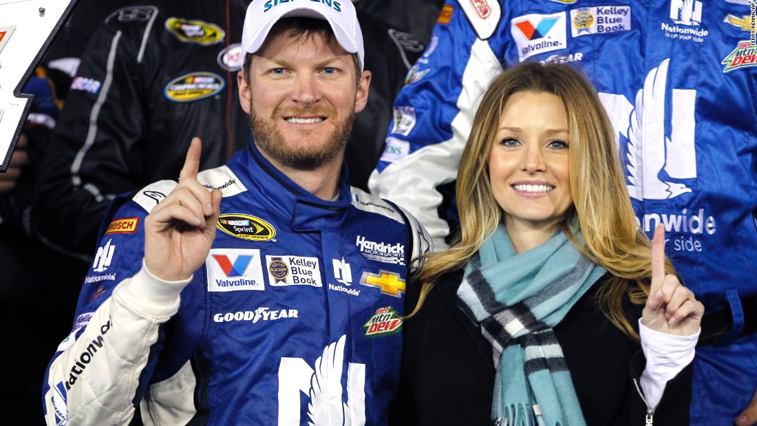 "Racecar driver Dale Earnhardt Jr. announced via Twitter on June 17 that he had <a href=""http://bleacherreport.com/articles/2498593-dale-earnhardt-jr-girlfriend-amy-reimann-announce-engagement?utm_source=cnn.com&utm_medium=referral&utm_campaign=editorial"" target=""_blank"">proposed to girlfriend Amy Reimann</a> while the two were on vacation in Germany. Earnhardt and Reimann have dated since 2009."
