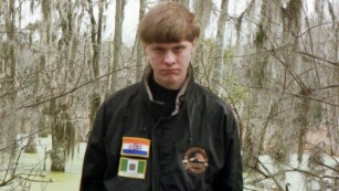 This image of suspect Dylann Roof appears on his Facebook page.
