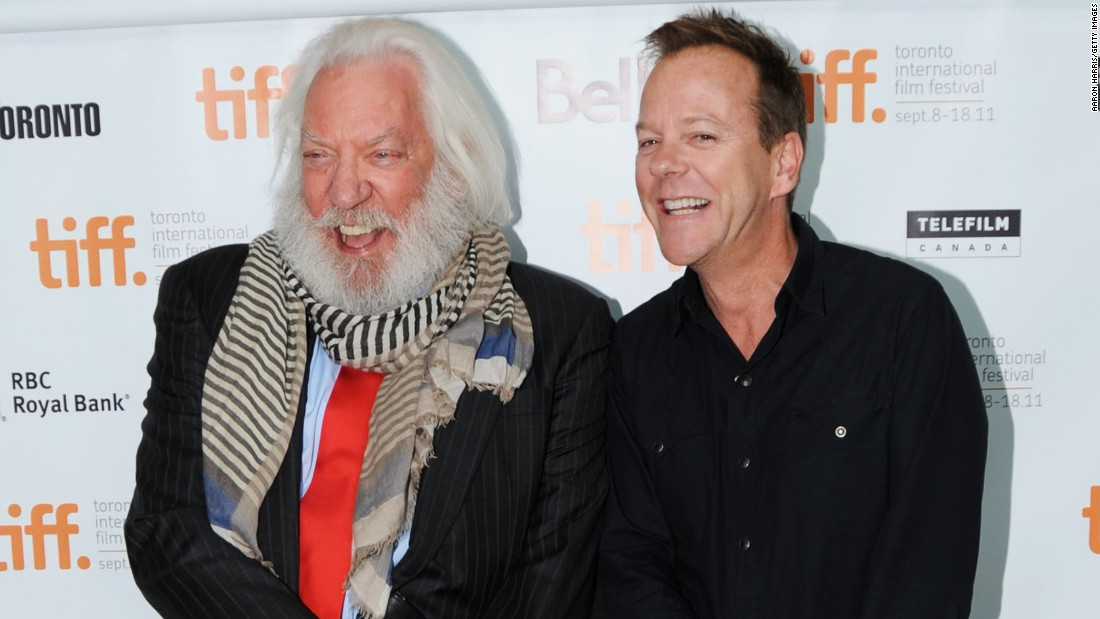 Between the two of them, actors Donald and Kiefer Sutherland's careers span almost 75 years. Kiefer is apparently named after Warren Kiefer, who directed Donald Sutherland's theatrical film debut.