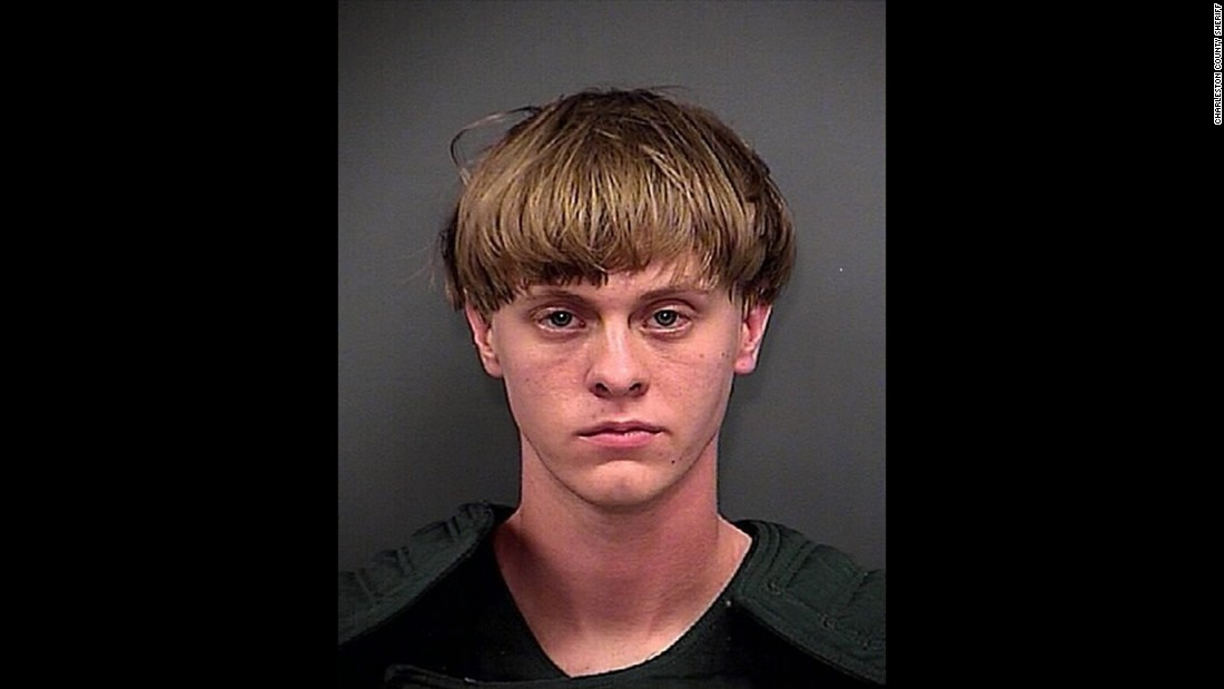 Roof's mugshot was released by law enforcement officials in Charleston, South Carolina, where the shooting took place.