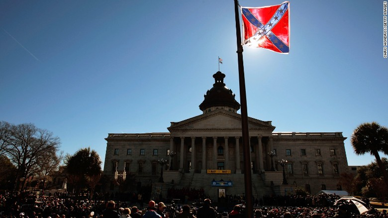 Should the Confederate flag fly on government land?