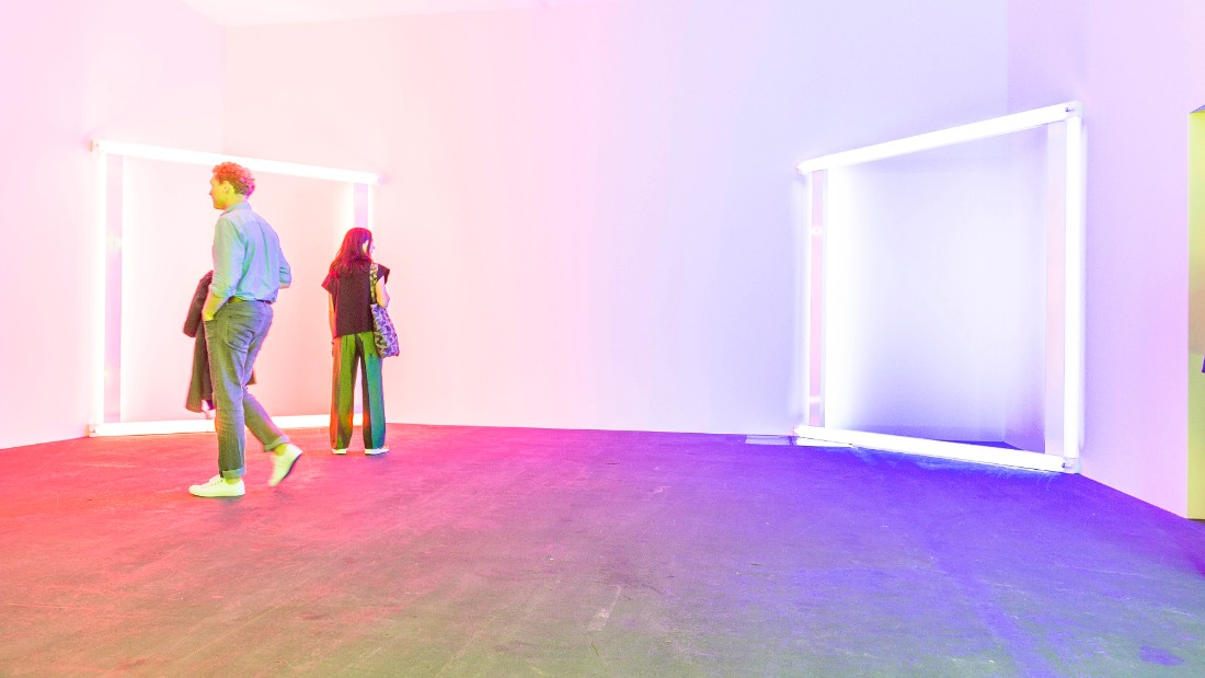 Dan Flavin's European Couples at Unlimited Basel