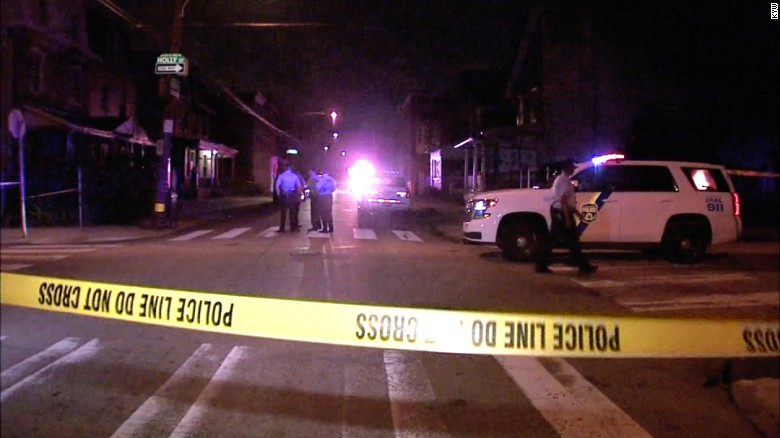 Baby among 10 people shot at Philadelphia block party