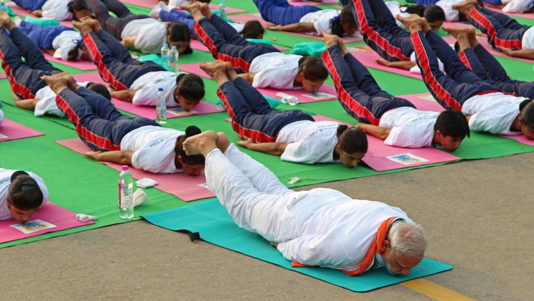India's Modi joins yoga day masses