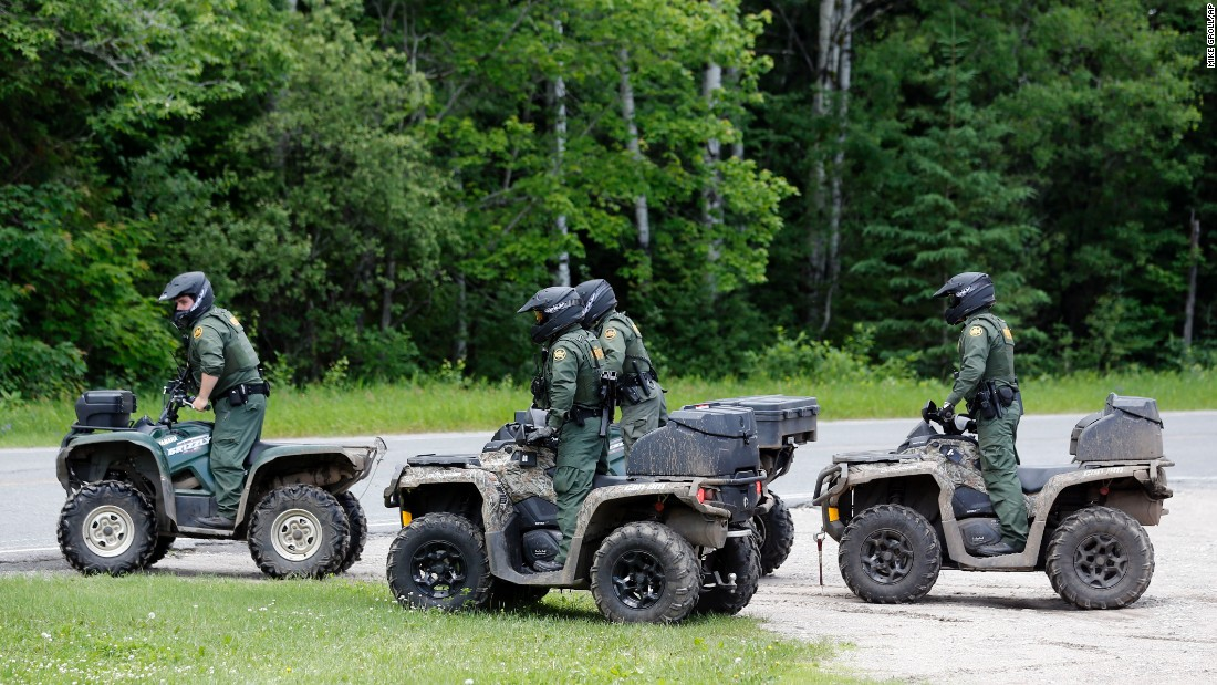 Law enforcement officers use all-terrain vehicles in Mountain View on June 22.