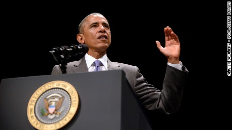 U.S. President Barack Obama delivers remarks during an investiture ceremony for Attorney General Loretta Lynch at the Warner Theatre on June 17, 2015 in Washington, DC.