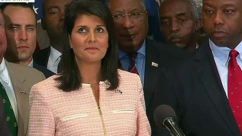 south carolina confederate flag removal haley sot lead _00000909