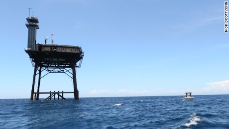 A hotel 34 miles from land: The Frying Pan Tower