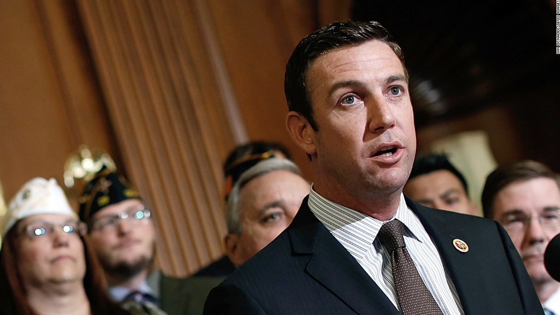 Rep. Duncan Hunter (R-CA) speaks during a news conference held by House Republicans on 'Protecting America's Veterans' at the U.S. Capitol May 29, 2014 in Washington, DC. Rep. Jeff Miller (R-FL), Chairman of the House Veterans Affairs Committee, and other leading Republicans have called for Secretary of Veterans Affairs Eric Shinseki to step down in the wake of an unfolding scandal relating to treatment of U.S. Veterans detailed in a recent investigative report.