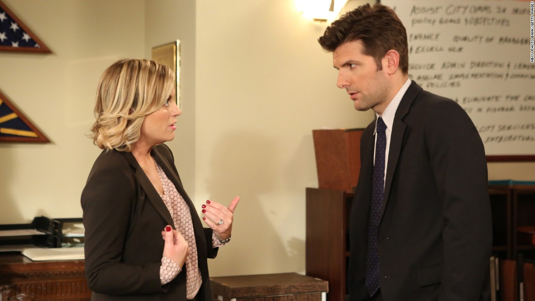 Adam Scott's Ben Wyatt married Amy Poehler's Leslie Knope in season five. The pair eventually had triplets and became -- it was implied -- political powerhouses.