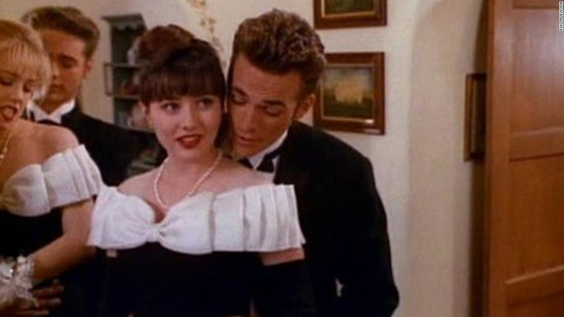 "Dylan McKay and Brenda Walsh (Luke Perry and Shannen Doherty) were the ""It"" couple on ""Beverly Hills 90210,"" helping the show become one of Fox's first hits. But there was friction between Doherty and other cast members, and that was it for romance."