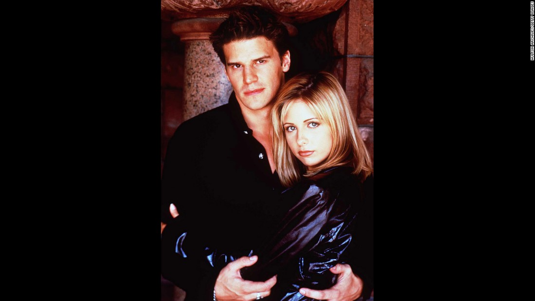 It became clear this romance was doomed as soon as it turned out that a night of passion with Buffy (Sarah Michelle Gellar) would turn vampire-with-a-soul Angel (David Boreanaz) back into his evil self, Angelus. Buffy ended up with another vamp; Spike and Angel ended up with a spinoff.