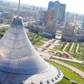 astana architecture aerial view