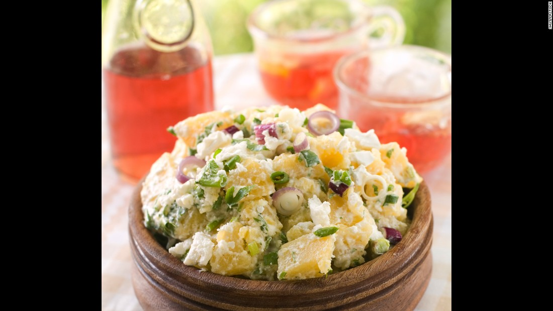 Ingredients of potato salad such as potatoes, pasta and eggs -- not mayonnaise -- are prone to contamination.