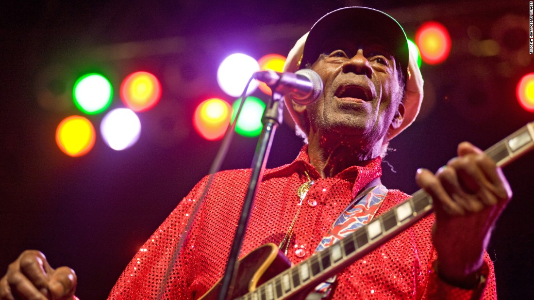 """You pretty much can't play rock 'n' roll without learning the """"Chuck Berry riff,"""" but ol' Chuck himself never hit No. 1 with """"Sweet Little Sixteen,"""" """"Back in the U.S.A."""" or """"Johnny B. Goode."""" It wasn't until 1972, when Berry was 46, that he finally had his only No. 1 -- with """"My Ding-a-Ling,"""" of all songs."""