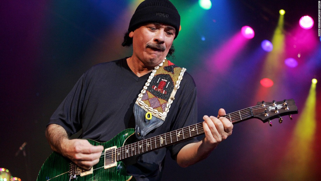 """Carlos Santana and his band Santana had a number of hit singles in the '70s and '80s, but it wasn't until 1999 -- 30 years after """"Evil Ways"""" -- that he finally had his first No. 1. The song, """"Smooth,"""" featured Rob Thomas on vocals."""