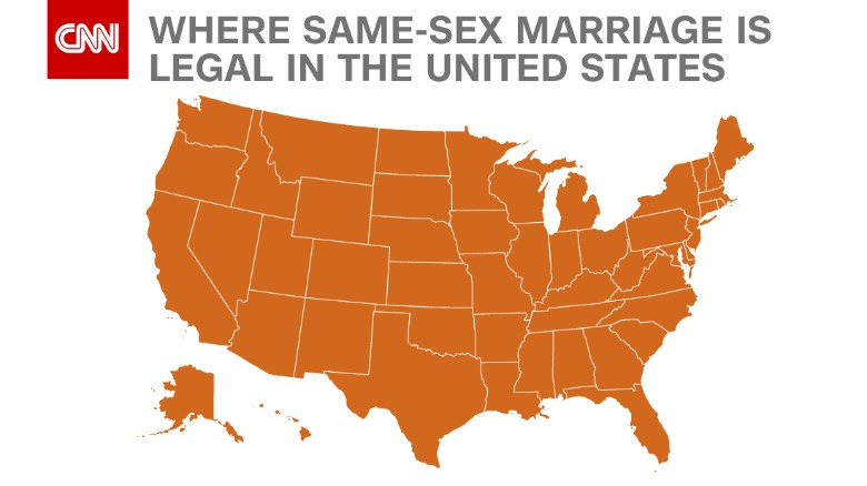 Same sex marriages in the united states