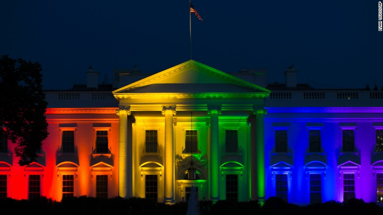 White House shines rainbow colors to hail same-sex marriage ruling