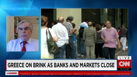 exp Greece on Brink as Banks and Markets Close_00002001