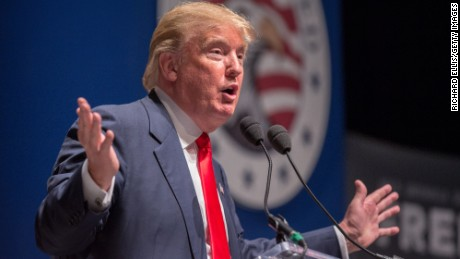 Buisnessman Donald Trump speaks during the Freedom Summit on May 9, 2015 in Greenville, South Carolina. Trump joined potential presidential candidates in addressing the event hosted by conservative group Citizens United.