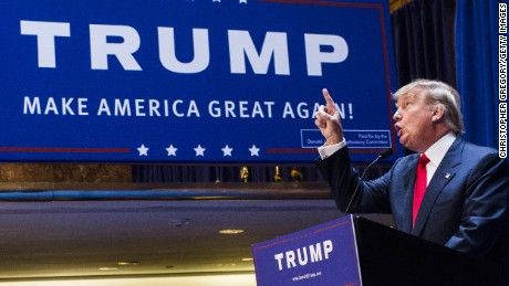 Business mogul Donald Trump announces his candidacy for the U.S. presidency at Trump Tower on June 16, 2015 in New York City.