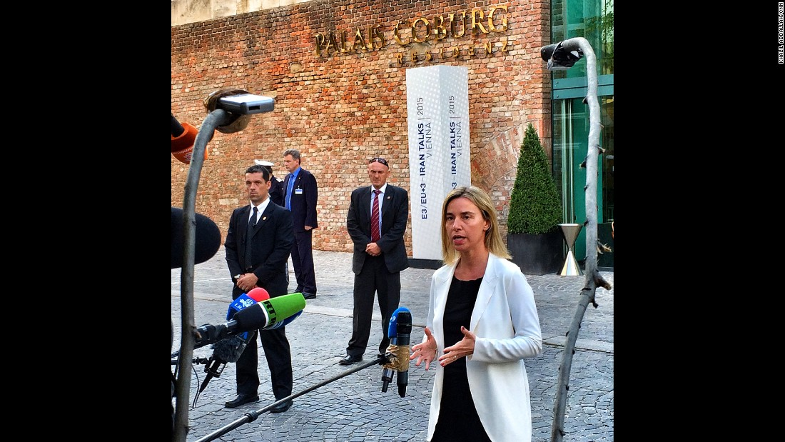 "AUSTRIA: ""Just when I thought I've seen it all...Breaking branches off a tree to make a boom pole for your audio recorder makes the list.<br />EU High Representative Federica Mogherini at the Iran Talks in Vienna takes some questions from the press."" - CNN's Khalil Abdallah, June 28.<br />Follow <a href=""http://instagram.com/madcameraman"" target=""_blank"">@madcameraman</a> and other CNNers on the <a href=""http://instagram.com/cnnscenes"" target=""_blank"">@cnnscenes</a> gallery on Instagram for more images you don't always see on news reports from our teams around the world."