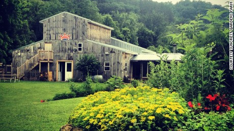 """""""The experience of eating outdoors on the farm amongst our gardens in the valley is just as important as the food itself,"""" says Suncrest Gardens owner, Heather Secrist."""
