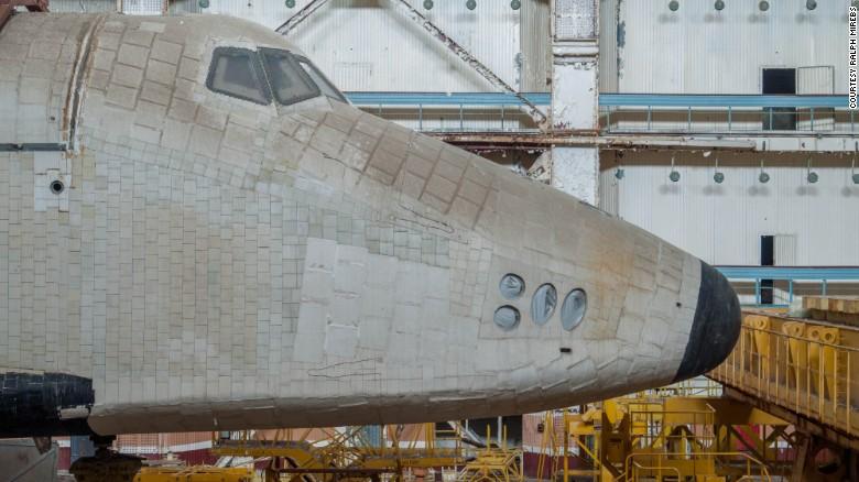 The breathtaking ruins of the Soviet space shuttle program…