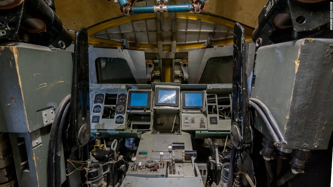 A glimpse inside the cockpit.