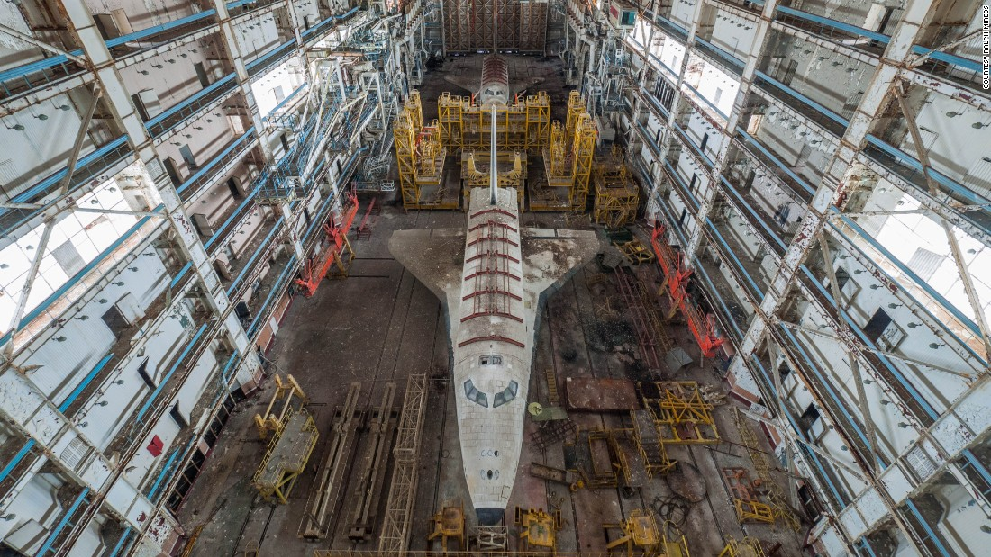 The ghostly spacecrafts are thought to have been part of the Soviets' Buran Program, which began in 1974 and was discontinued in 1993.