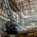 baikonur cosmodrome kazakhstan societ space shuttle railing