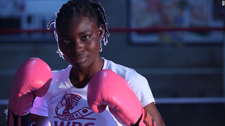 Boxing is mostly a man's world, but that hasn't stopped 19-year-old Catherine Phiri from entering the ring.